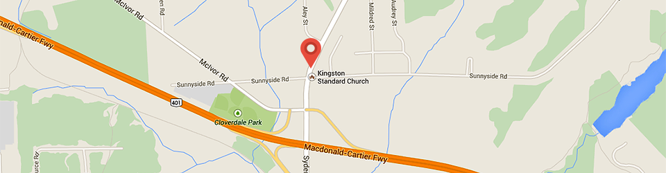 Map to Kingston Standard Church